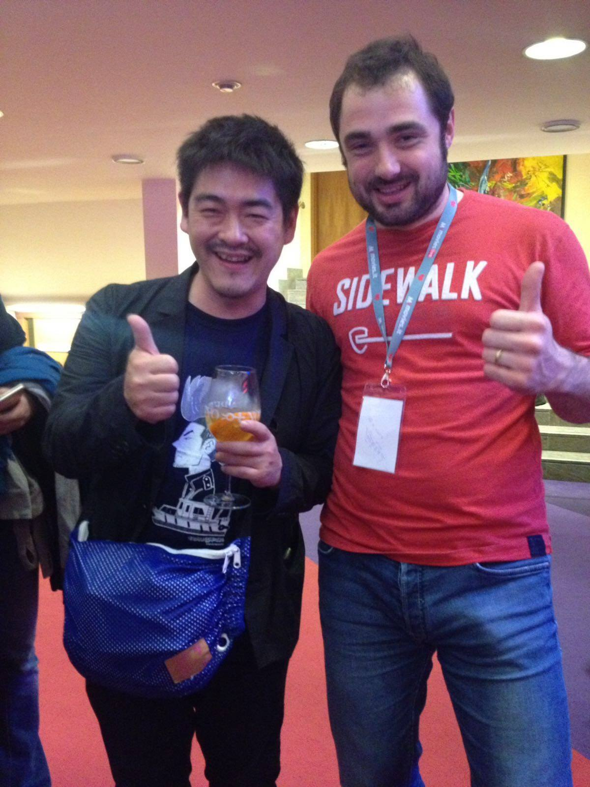 Suichi Okita e Martino Savorani, Far East Film Festival, Udine 2016