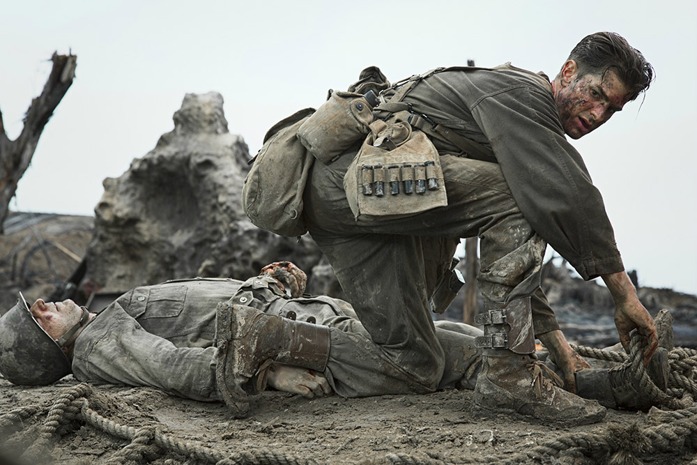 Andrew Garfield in La battaglia di Hacksaw Ridge