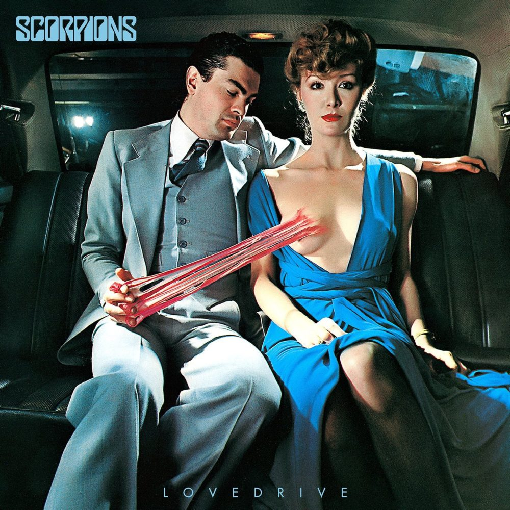 La copertina dell'album Lovedrive degli Scorpions